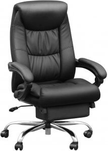Leather Office Chair with Lumbar Support